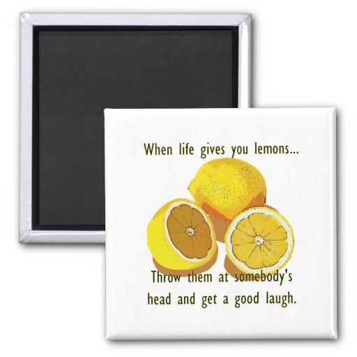 Das Leben gibt Ihnen Zitronen-Spaß Kühlschrankmagnete