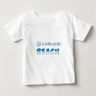 Das Leben ist am STRAND besser Baby T-shirt
