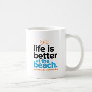 Das Leben ist am Strand besser Kaffeetasse