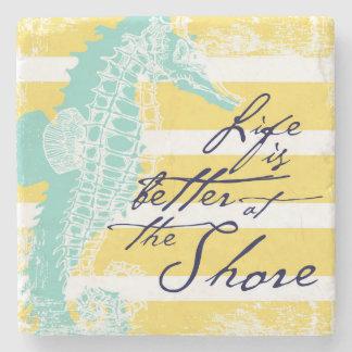 Das Leben ist am Ufer besser Steinuntersetzer