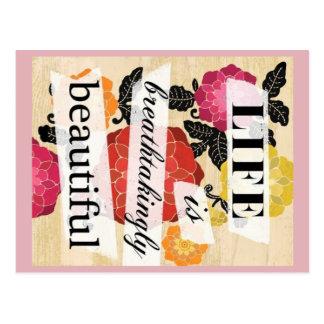 Das Leben ist atemberaubend schöne Postkarte