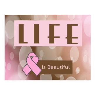 Das Leben ist Beautiiful, Brustkrebs-Überlebender Postkarte