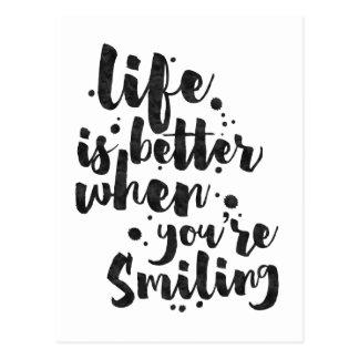 Das Leben ist beim Lächeln - inspirierend Karte