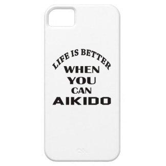 Das Leben ist besser, wenn Sie Aikido können iPhone 5 Case