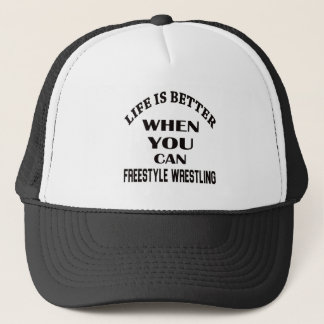 Das Leben ist besser, wenn Sie Freistil-Wrestling Truckerkappe