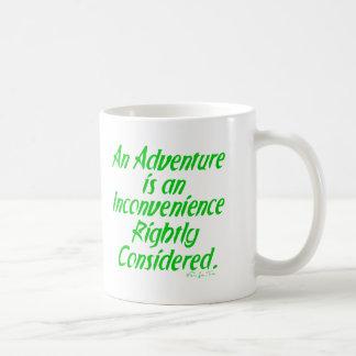 Das Leben ist ein Abenteuer Tasse
