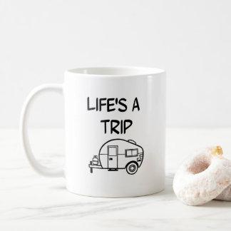 Das Leben ist ein Kaffeetasse