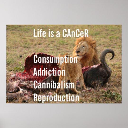 Das Leben ist ein Krebs Poster