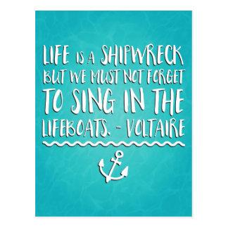 Das Leben ist ein Schiffbruch Postkarte