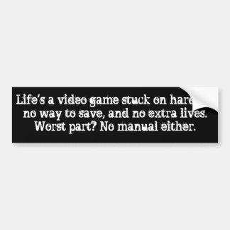Das Leben ist ein Videospiel Autoaufkleber