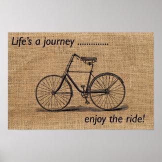 Das Leben ist eine Reise… genießen die Fahrt! Poster