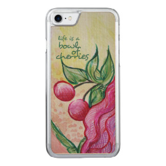 Das Leben ist eine Schüssel voll Kirschen Carved iPhone 8/7 Hülle