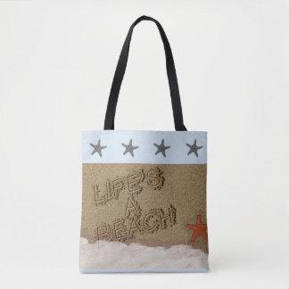 Das Leben ist eine Strand-Tasche Tasche