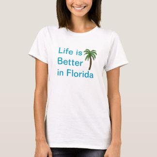 Das Leben ist im Florida-Palme-T - Shirt besser