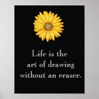 Das Leben ist Kunst --- Kunstplakat Poster