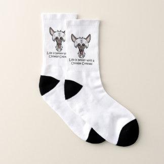 Das Leben ist mit einem chinesischen mit Haube Socken