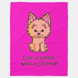 Das Leben ist mit einem Chorkie besser Fleecedecke