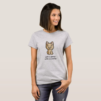 Das Leben ist mit einem Chorkie besser T-Shirt