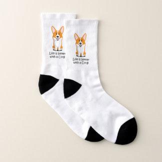 Das Leben ist mit einem Corgi besser Socken