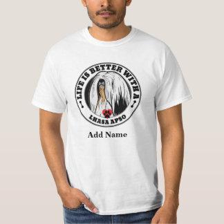 Das Leben ist mit einem Lhasa personalisierter T-Shirt