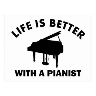 Das Leben ist mit einem Pianisten besser Postkarte