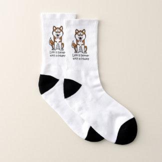 Das Leben ist mit einem Schlittenhund besser Socken
