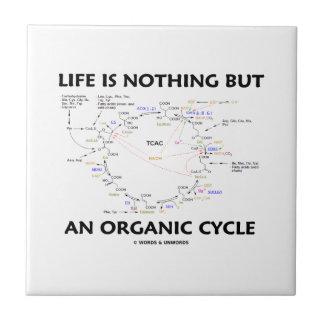 Das Leben ist nichts aber ein Bio Zyklus (Krebs Kleine Quadratische Fliese