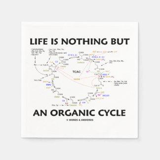 Das Leben ist nichts aber ein Bio Zyklus Krebs Papierserviette