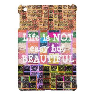 Das Leben ist schön:  Editable Text. DIY Schablone iPad Mini Hülle