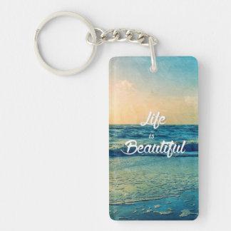 Das Leben ist schön Schlüsselanhänger