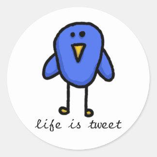 """""""das Leben ist tweeten"""" Aufkleber"""