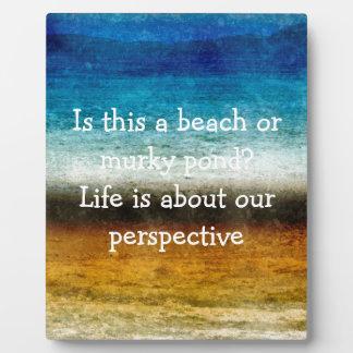 Das Leben ist über unsere Perspektive Platte