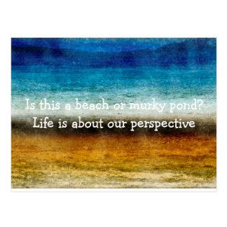 Das Leben ist über unsere Perspektive Postkarten