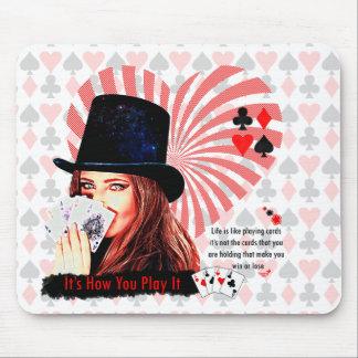 Das Leben ist wie Spielkarten Mousepads