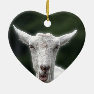 das Leben ist Ziege Keramik Ornament