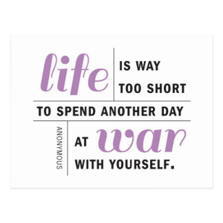 Das Leben ist zu kurze motivierend Postkarte