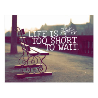 Das Leben ist zu kurzes | motivierend Zitat Postkarte