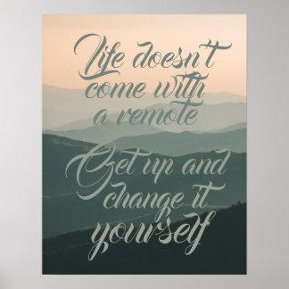 Das Leben kommt nicht mit einer Fernänderung es Poster