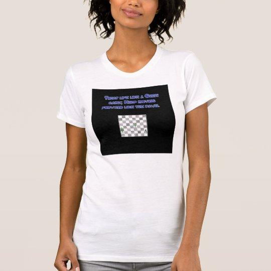 Das Leckerei-Leben mögen ein Schach-Spiel T-Shirt