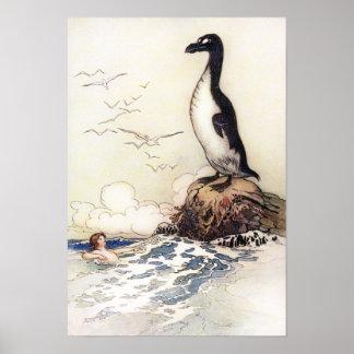 Das letzte Gairfowl durch Warwick Goble Poster