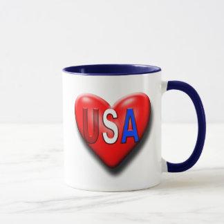 Das Liebe-Amerika-Herz Tasse