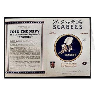 Das Lied der Seabees Grußkarte