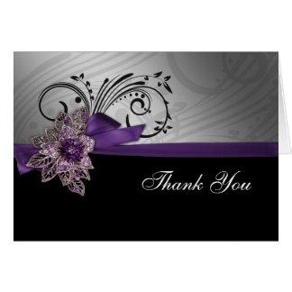 Das lila Imitat-Band-Mod danken Ihnen zu kardieren Karte