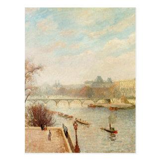Das Louvre, Winter-Sonnenlicht, Morgen, 2. Version Postkarte