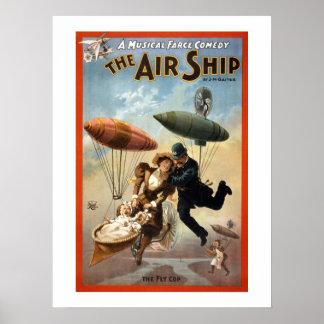 Das Luftschiff-Vintage Theater-Plakat Poster