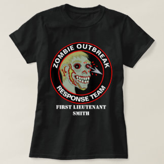 Das lustige Zombie-Ausbruch-Warteteam addieren T-Shirt