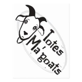 Das Ma der Tasche Ziegen Postkarte