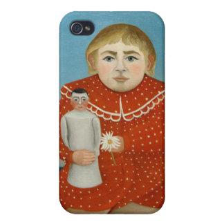 Das Mädchen mit einer Puppe - Henri Rousseau iPhone 4 Hülle
