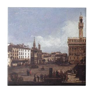 Das Marktplatz della Signoria in Florenz durch Keramikfliese