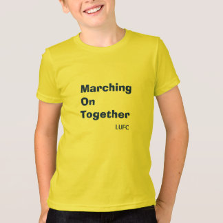 Das Marschieren auf zusammen Leeds United scherzt T-Shirt
